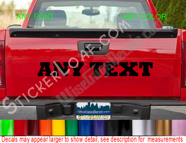 Custom any name tailgate decal personalized image